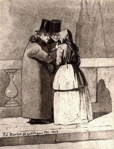 på_norrbro_på_qvällsqvisten_1849